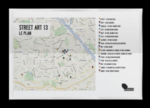 Plan Parcours Street Art Paris 13
