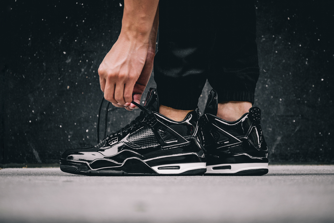 Basket Air Jordan 11LAB4 Black White