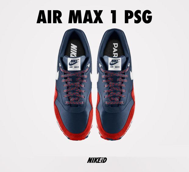 NIKEiD Air Max 1 Paris Saint Germain à Gagner | Sneak art