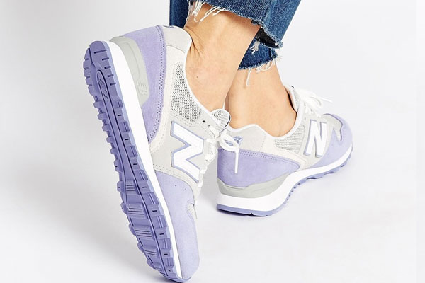 New Balance - 996 - Baskets en daim - Lilas