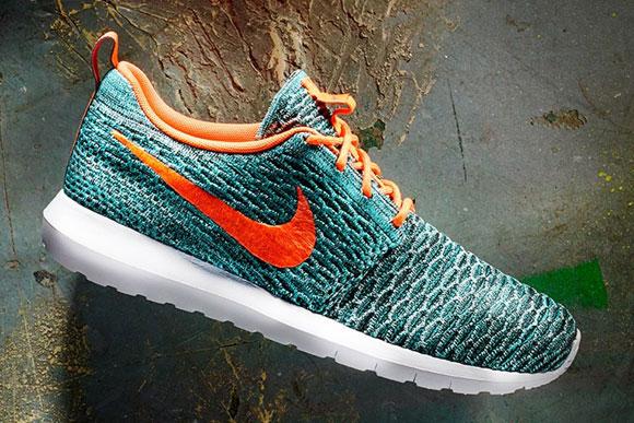 Nike Flyknit Roshe Run Hyper Jade-02