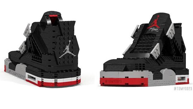 Nike Air Jordan en Lego par Tom Yoo | Sneak-art
