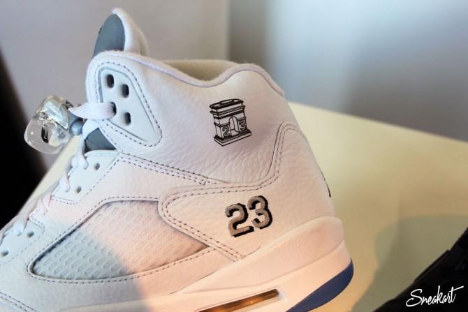 Gravure au laser d'une Basket Air Jordan 5
