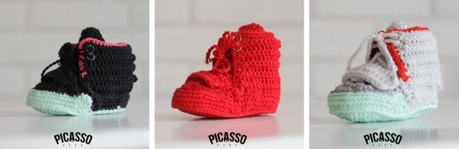 Baby Sneakers Tricoté