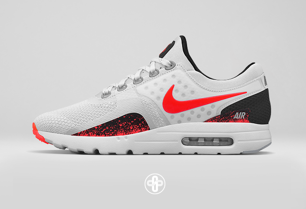 Nike Air Max Zero Hot Lava Make Up By The Golden Shape