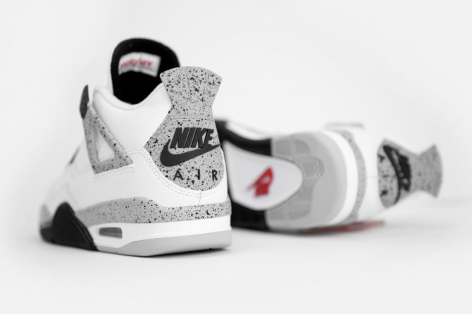 Air Jordan 4 white cement 2016 code sku 308497-104