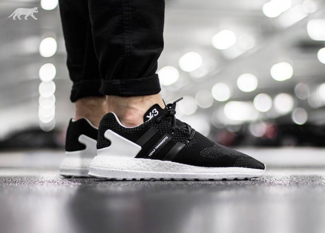 ADIDAS Y-3 PURE BOOST ZG KNIT Core Black