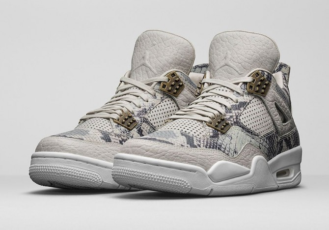 Air Jordan 4 Snakeskin light bone 819139-030