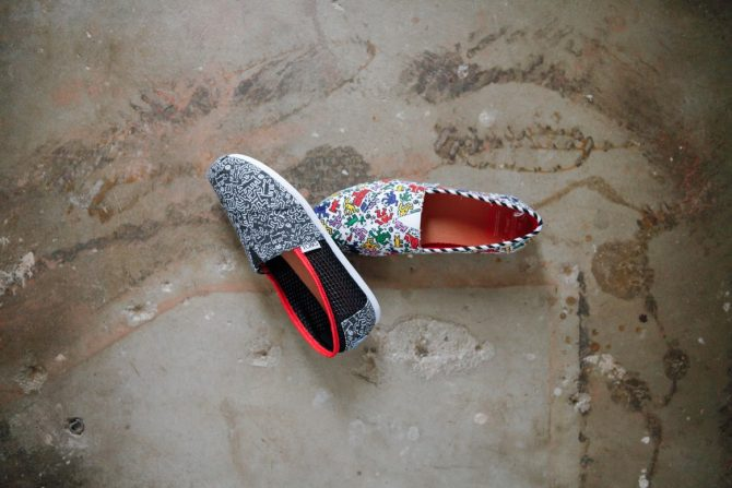 Chaussures TOMS X Keith Haring