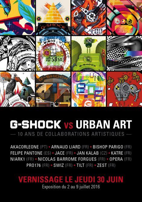 Exposition G-SHOCK vs URBAN ART