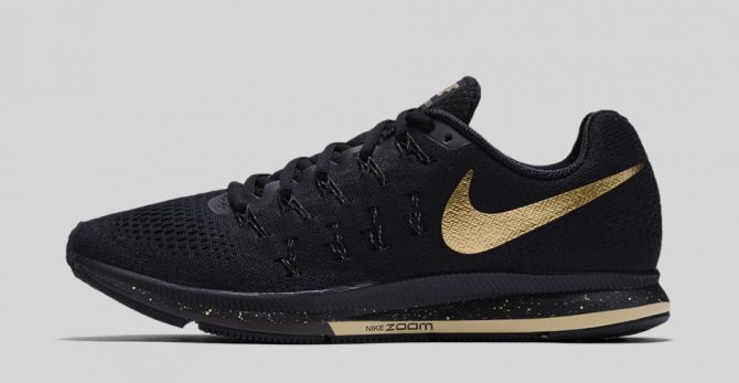 Nike Air Zoom Pegasus 33 Black and Gold Noir Or métallique 880103-007