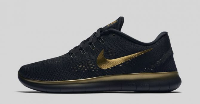 Nike Free RN Black and Gold 850493-007