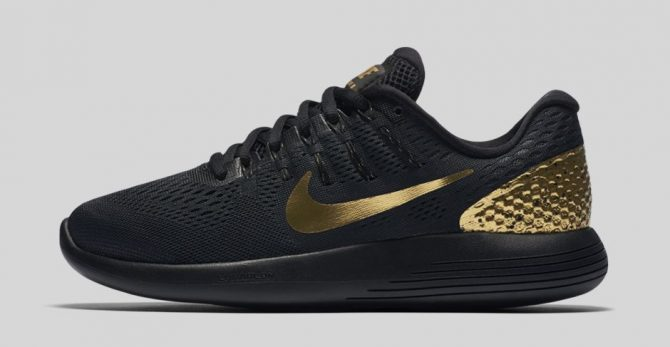 Nike LunarGlide 8 LE Black and Gold 878706-007