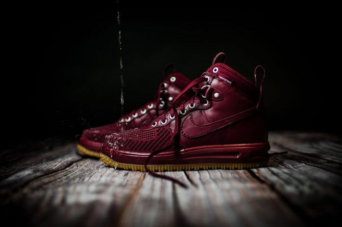 Nike Lunar Force 1 Duckboot Team Red Gum Light Brown