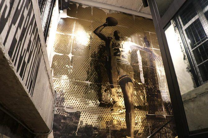Décoration Boutique Jordan à Paris