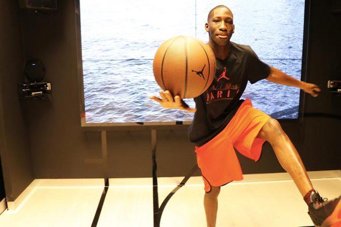 Zone d'essai Basket Air Jordan