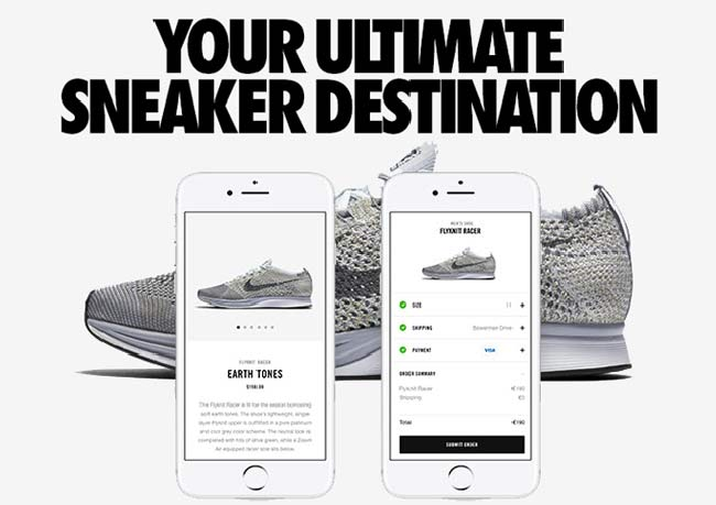 "Nike ""your ultimate sneaker destination"""